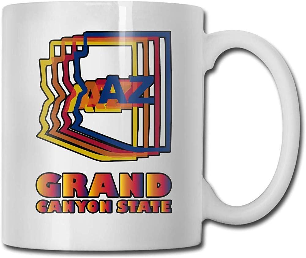 Bandera de Arizona Taza de cerámica Tazas de café lindas Taza de viaje de cerámica Taza de té 330ml (Blanco)