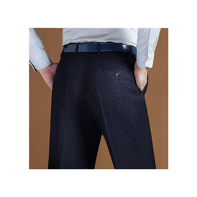 Amazon.com: Hombres Traje Pantalones Clásico de la Elevación ...