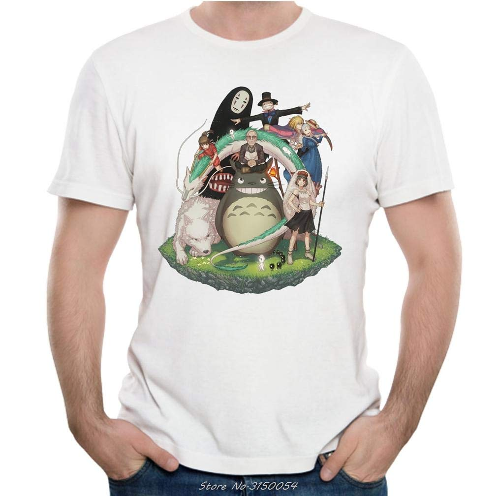 Mononoke Vicino Totoro Studio Ghibli 9 S Printing S Funny Short Sleeves Shirts