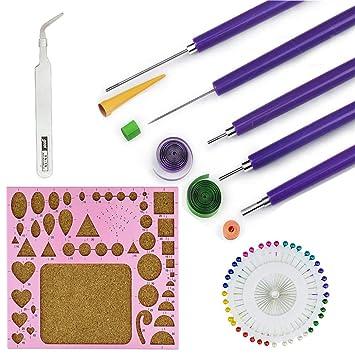 Herramientas para filigranas de papel, 8 piezas, kit de herramientas para filigranas con ranuras, incluye tabla de plantillas de filigrana, pines, ...