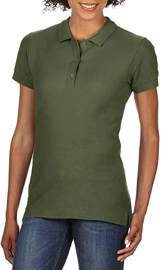 Gildan - Polo de piqué de algodón Mujer: Amazon.es: Electrónica