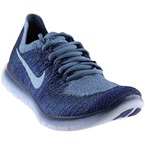 12f81479b9c7a Nike Womens Free RN Flyknit 2017 Running Shoes Ocean Fog Cirrus Blue College  Navy 880844-404 Size 8. 5  Amazon.in  Shoes   Handbags