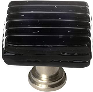 product image for Sietto K-802-SN Texture 1-1/4 Inch Square Cabinet Knob