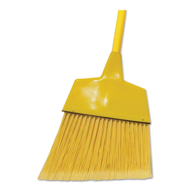 O'Dell Corn/Fiber Angled-Head Lobby Brooms, 42'''', Yellow, 12/Carton, New by O'Dell