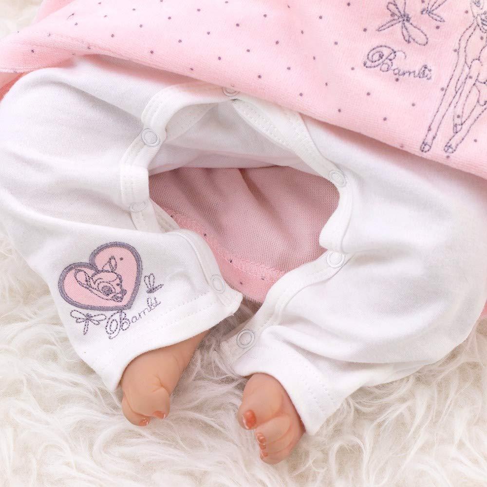 Disney Baby Set M/ädchen wei/ß rosa 80 Gr/ö/ße: 9-12 Monate Motiv: Bambi Baby Strampler mit Kleid f/ür Neugeborene /& Kleinkinder
