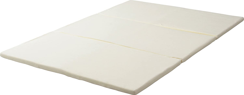 不二貿易 低反発 三つ折れ マットレス ダブル 4cm厚 82890 B005LIE4OE  ホワイト