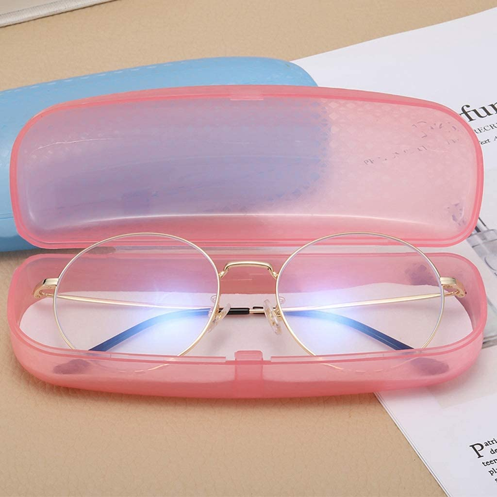 Color : Blue WYH Carry Transparent Glasses Box Female Small Fresh Simple Retro Personality Elegant Boy Creative Plastic Portable Eye Box Durable