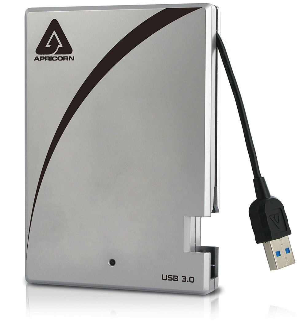Apricorn Aegis Portable 3.0 USB 1 TB Drive with Integrated USB Cable (A25-3USB-1000) by Apricorn