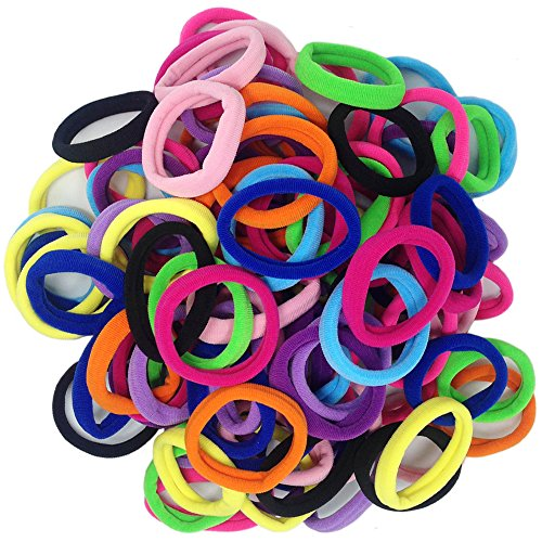 Thick Seamless Cotton Hair Bands, Simply Hair Ties Ponytail Holders Headband Scrunchies Hair Accessories No Crease Damage for Thick Hair (Neutral Colors) (Extra Cotton Loom Bands compare prices)