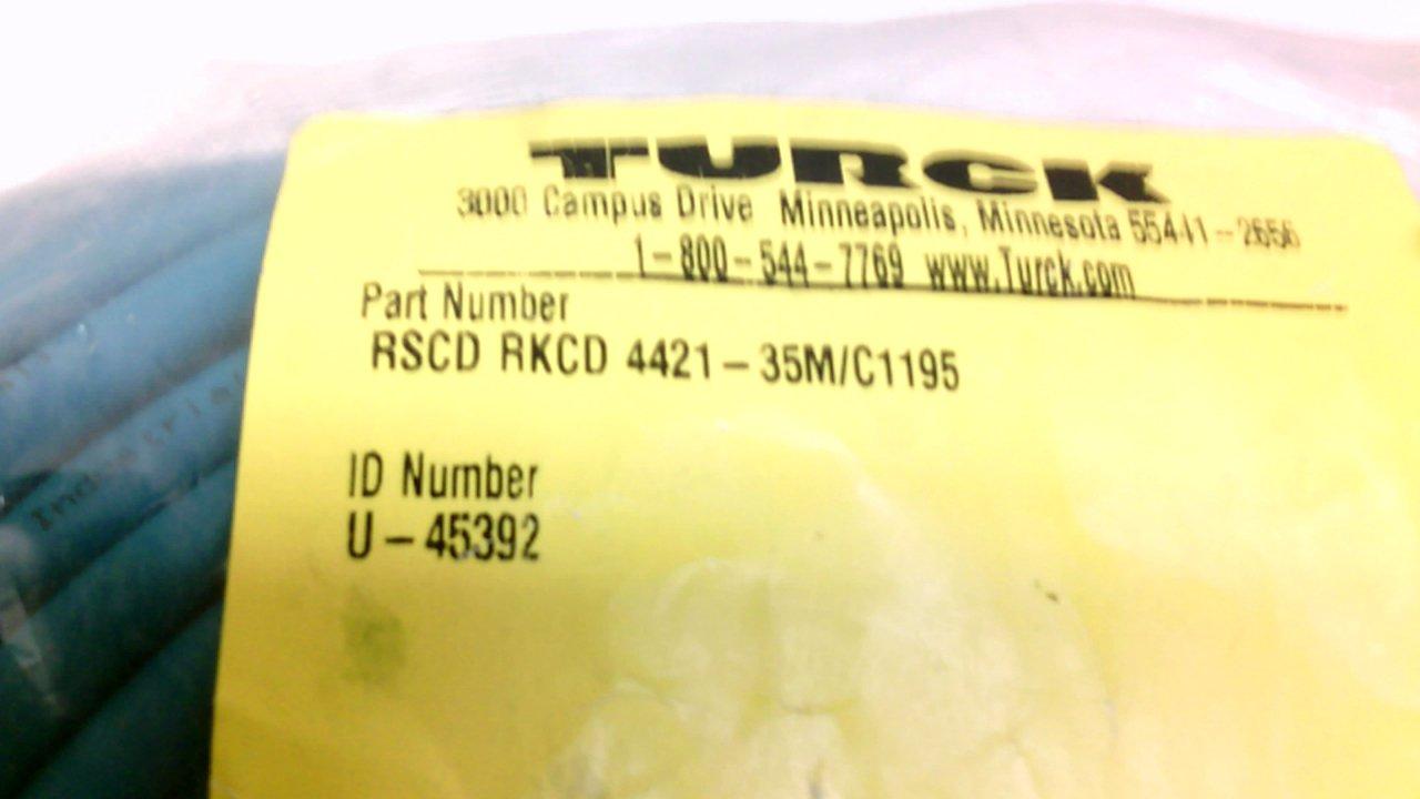 Turck Rscd Rkcd 4421-35M//C1195 4 Pole Double Ended Cordset Male//Female Rscd Rkcd 4421-35M//C1195