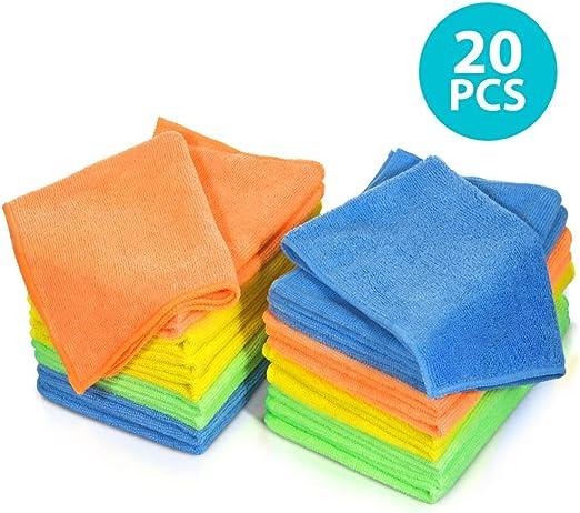 Paños De Limpieza Entrega al día siguiente paquete de 20 Amarillo Paño de Microfibra//Toalla