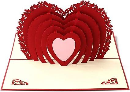 Papel spiritz amor en el corazón 3d Pop Up Tarjeta de felicitación ...