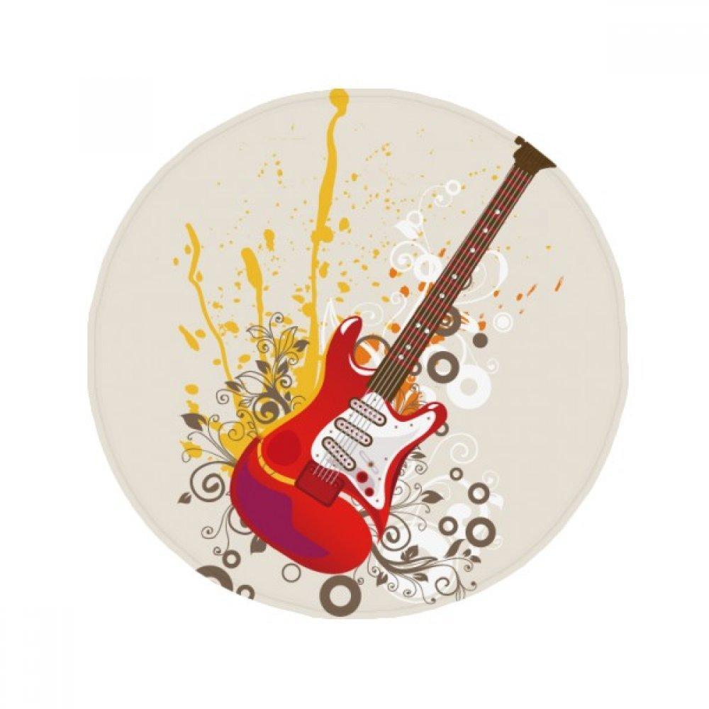DIYthinker Guitarra eléctrica de la música de Jazz Cultura Antideslizante Piso Estera del Animal doméstico Ronda baño Sala Cocina 80cm Regalo de la Puerta ...