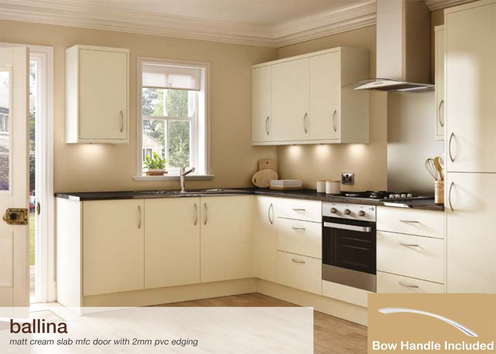 Ballina Matt Cream Kitchen Units (1000mm Base Unit): Amazon.co.uk: DIY U0026  Tools