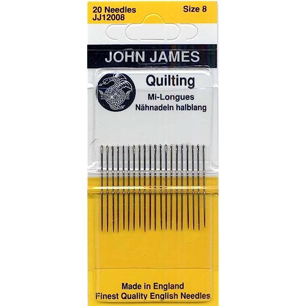 Size 10 by John James sku# JJEG12010 Quilting Needles Gold /'n Glide