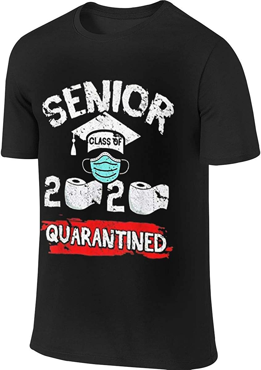 BTVE Class of 2020 Graduation Shirt Senior Funny Quarantine 2020 Casual Style Running Black Shirt