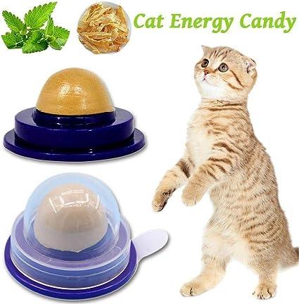 Cat Treats Sugar Ball,Cat Healthy Nutrition Candy Catnip Candy Licking Sugar Healthy Cat Snacks