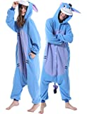 Adult Animal Plush One Piece Animal Pajamas Xmas Costume One Piece Cosplay Sleepwear For Women Men