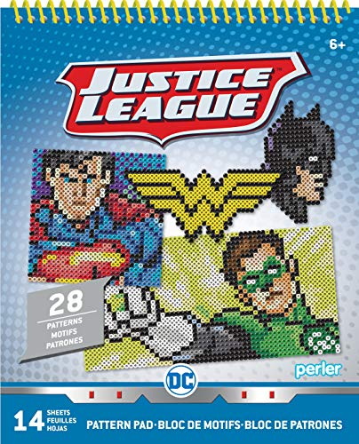 DC Justice League Perler Bead Pattern Pad, 28 Patterns