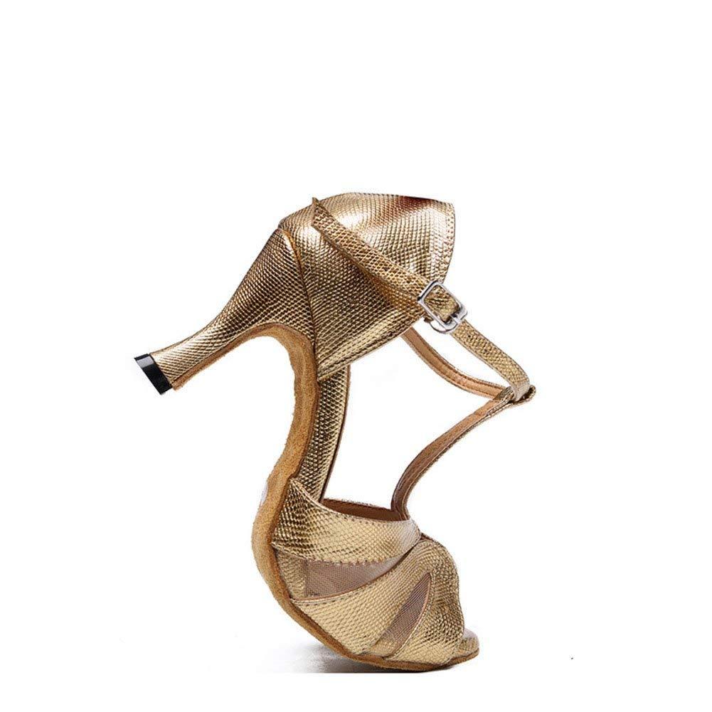ZHRUI Lateinamerikanische Tanzschuhe der Frauen Soziale Tanzschuhe Tanzschuhe  Ballsaal Tanzschuhe (Farbe  Tanzschuhe  Golden Größe   Foot Length=24.3CM9.6Inch) 49bb32