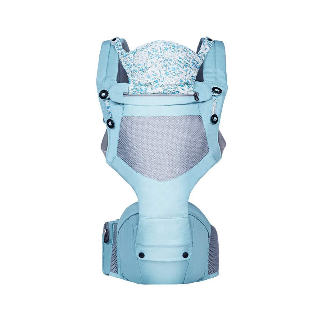 Babytrage,Praktisch Sicherheit Falten Klettverschluss Schnalle Licht Baumwolle 2 In 1 Stillen Visier (Farbe : Grün)