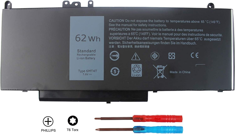 Angwel New 6MT4T Laptop Battery for Dell Latitude E5470 E5570 Pricision 3510 7V69Y TXF9M 79VRK 07V69Y[7.6V 62Wh]