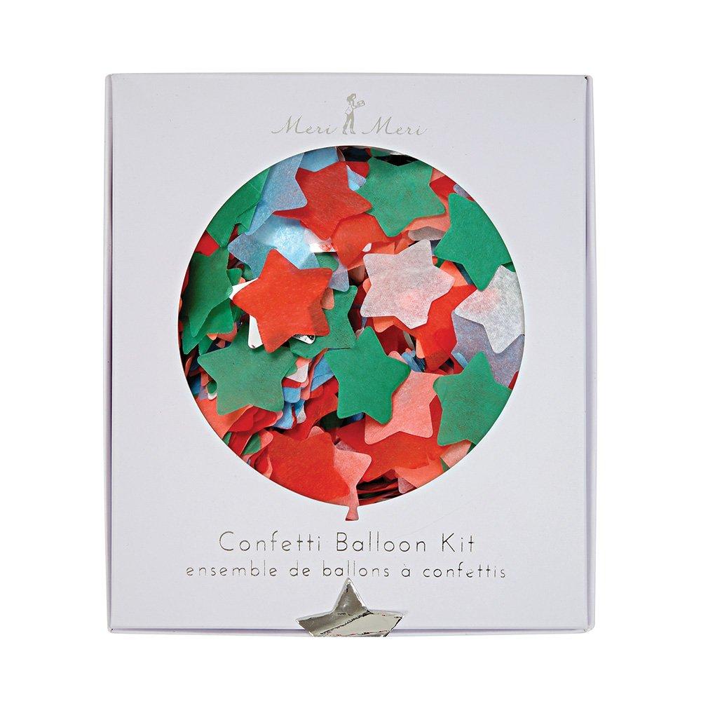 Meri Meri 45-2358 Multicolor Confetti Xmas Balloon Kit Novelty