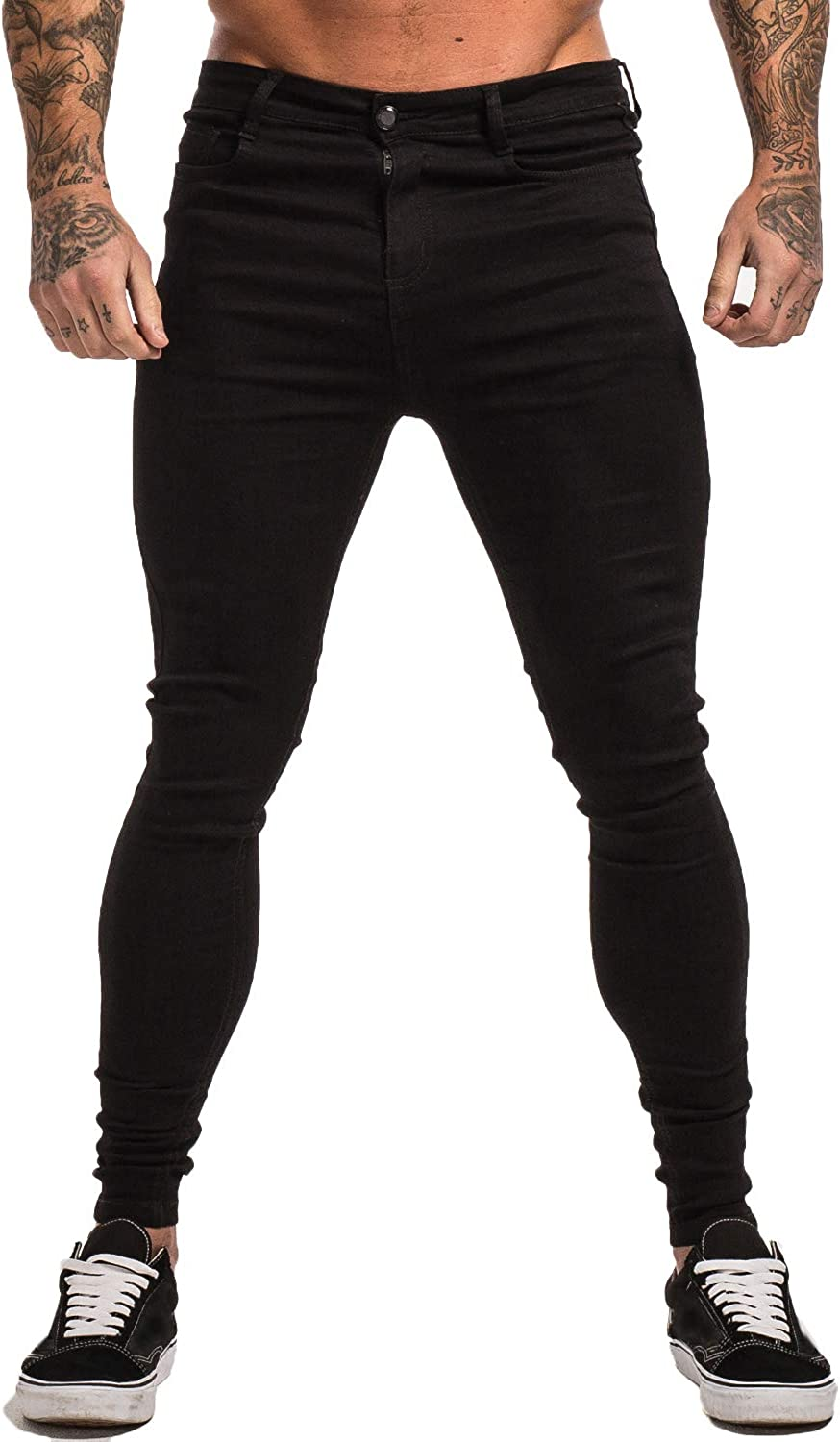 GINGTTO Men's Ripped Jeans Slim Fit Skinny Stretch Jeans Pants at  Men's Clothing store