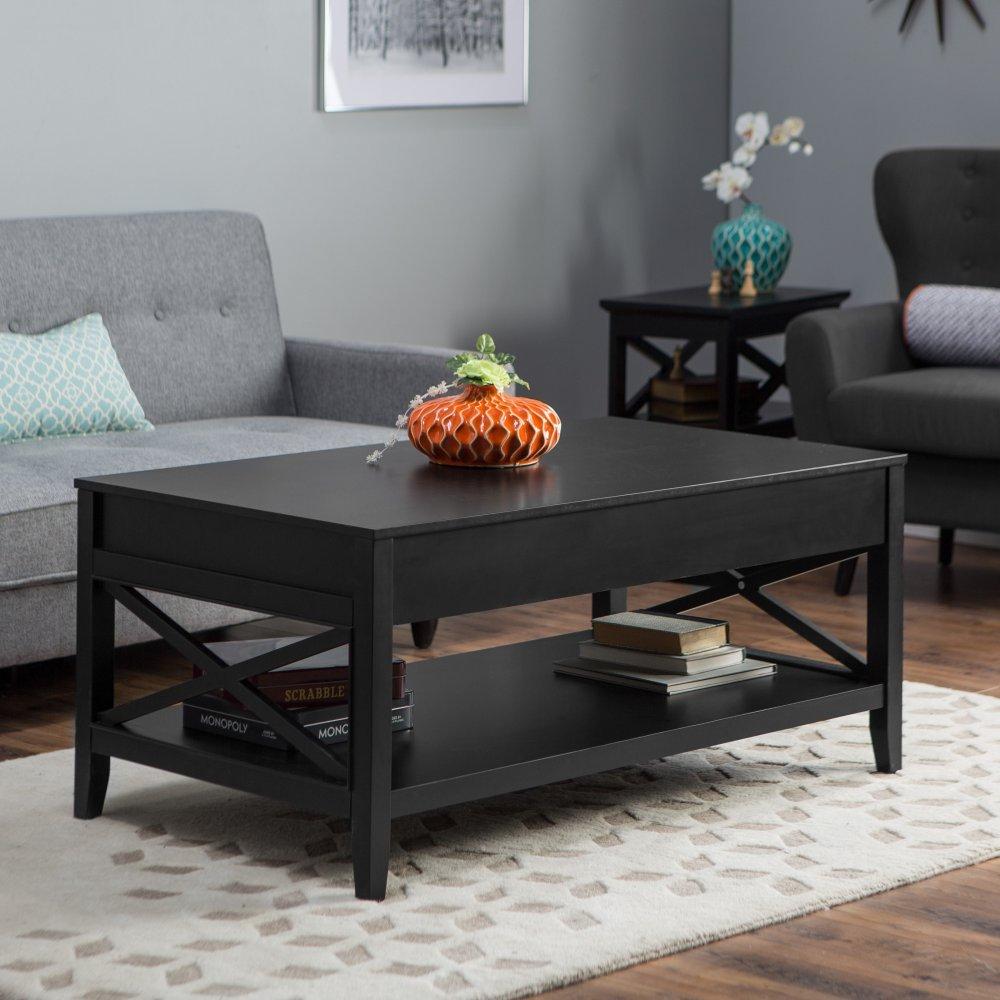 Black lift top coffee table - Amazon Com Belham Living Hampton Storage And Lift Top Coffee Table Kitchen Dining