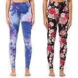Soft Printed Leggings Women – One/Plus Size High
