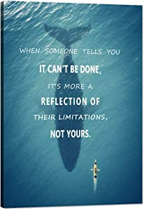 """Success Wall Art Pictures for Office Motivational Inspirational Quote Poster Modern Inspiration Motivation Inspire Creative Ocean Challenge Limitation Canvas Painting Motto Decorations (12""""Wx18""""H)"""