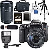 Canon EOS Rebel T6s DSLR Camera with 18-135mm Lens + Canon EF-S 55-250mm Lens + Canon 100ES EOS Shoulder Bag Bundle