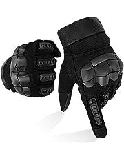 Guanti Moto Full Finger Touch Screen Guanti Sportivi da Esterno Hard Knuckle Protettivo per Moto Ciclismo Caccia Arrampicata Camping Guanti