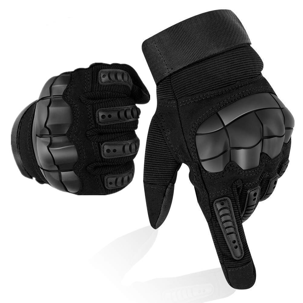 Guanti Moto Full Finger Touch Screen Guanti Sportivi da Esterno Hard  Knuckle Protettivo per Moto Ciclismo Caccia Arrampicata Camping Guanti (L) f66474bc805e