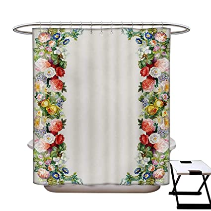 Amazon com: Victorian Shower Curtain Collection Rose Garland