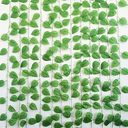 Yatim 94-Ft 12 Strands Artificial Flowers Apple Ivy Silk Fake Hanging Vine Plant Leaves Garland Home Garden Wall Decoration