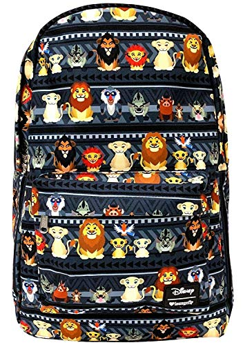 (Loungefly Disney's The Lion King Characters Print Backpack Standard )