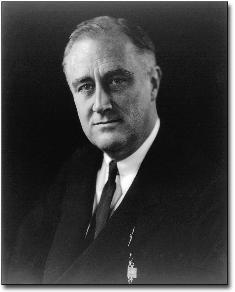 President Franklin D Roosevelt Portrait 11x14 Silver Halide Photo Print