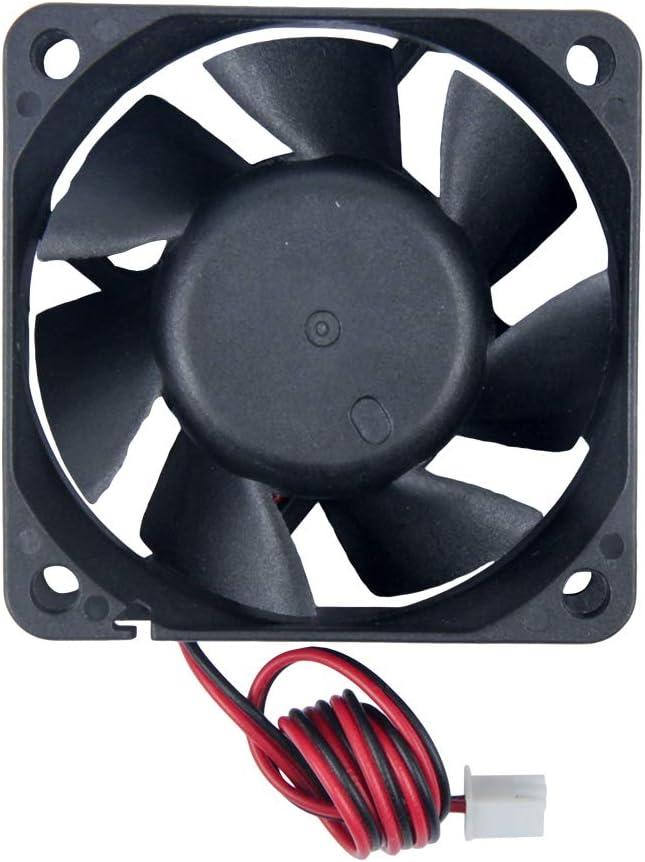 TeOhk 4PCS DC Cooling Fan 12V 0.2A with Cable etc 2Pin Terminal Mini Quiet for 3D Printer 60x60x25cm DVR,DIY Electric Project Frequency Conversion Fan Module