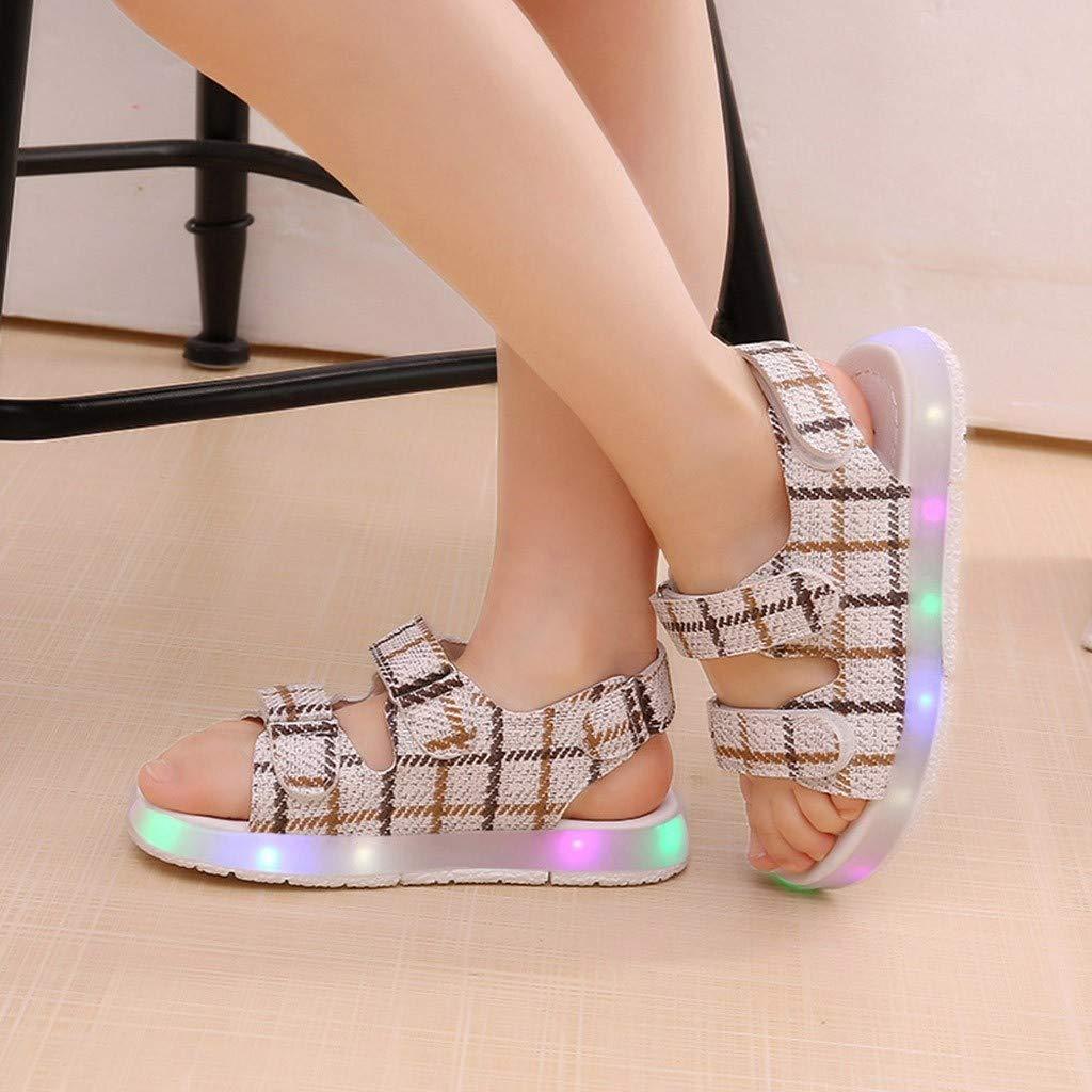 MISSWongg M/ädchen Sandalen Mode Leuchtende Schuhe Sport Turnschuhe Sommerschuhe Unisex Baby Sneakers