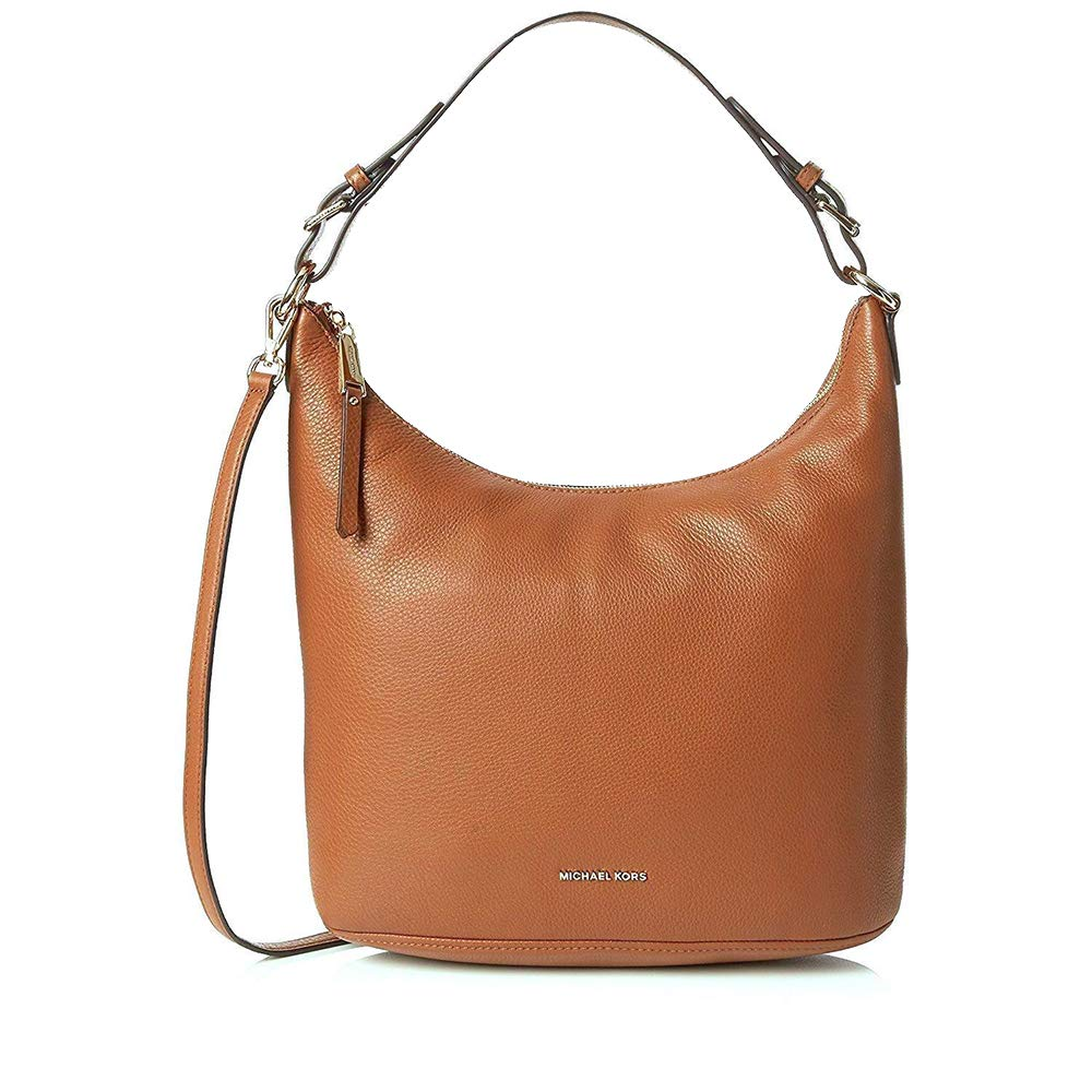 1f41558f98c1 Amazon.com  Michael Kors Lupita Large Leather Hobo Bag
