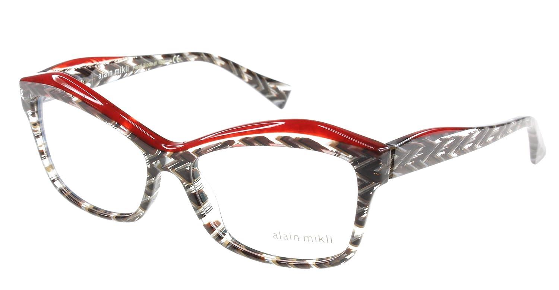 Amazon.com: Alain Mikli anteojos A03042 Eyeglasses E014 Rojo ...