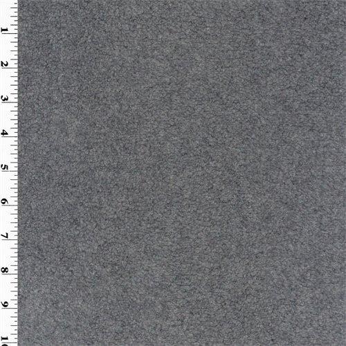 Gray Single Sided Berber Fleece, Fabric By the Yard