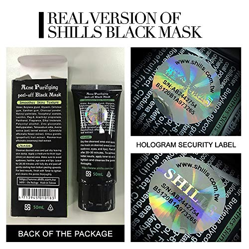 SHILLS Blackhead Remover, Pore Control, Skin Cleansing, Purifying Bamboo Charcoal, Peel Off Black Mask,1 Bottle(1.69 fl… 4