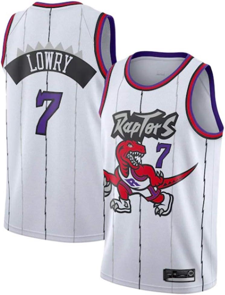 CAISHEN Camiseta de Baloncesto para Hombre Mujer, Toronto Raptors 7# Lowry Jugador de Baloncesto Jeysey, Bordado Transpirable y Resistente al Desgaste Camiseta para Fan: Amazon.es: Deportes y aire libre