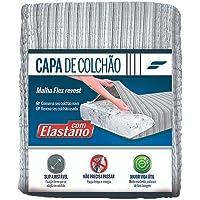 Fibrasca Tom Escuro Capa de Colchão Casal 96% Poliéster 1,4x1,9 m 96% Poliéster 4% Elastono, Cores Sortidas