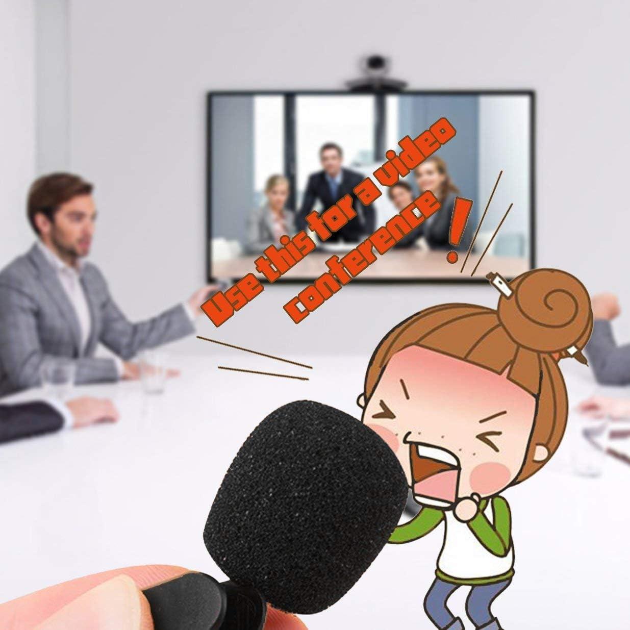 Black New Mini Portable 3.5mm Mini Studio Speech Mic Microphone w// Clip for PC Desktop Notebook Lectures Teaching Mic Black
