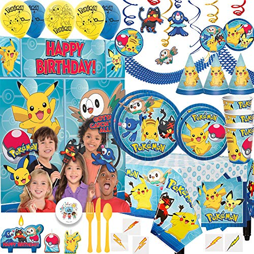 MEGA Pokemon Birthday Party Pack For 16 With