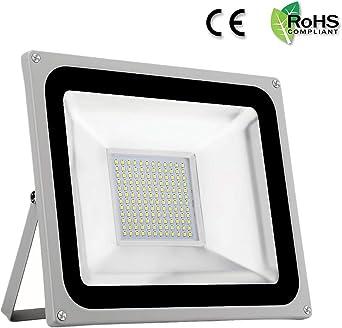 Floodlight LED Foco Proyector 100W Exterior Iluminación 8000lm Luz ...