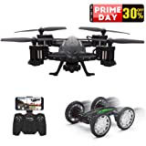 RC Drone With 720P HD Camera, Rolytoy Remote Control Car and Quadcopter Toy with 2.4GHz FPV 360°Flip 6-Axis Wifi Headless Mode for Kids and Adults with 2 Batteries